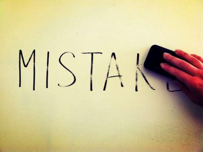 اشتباهات رایج