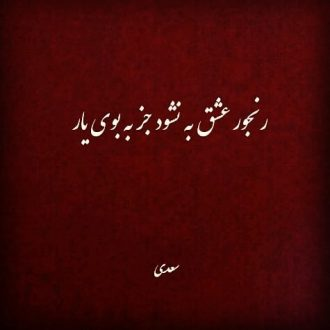 در محضر سعدی شیرازی - رنجور عشق به نشود جز به بوی یار