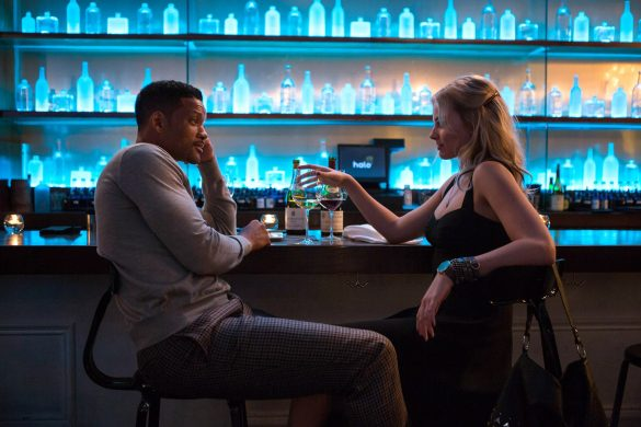 Will Smith and Margot Robbie in Focus 2015 Movie Image 585x390 - معرفی فیلم تمرکز ( Focus )