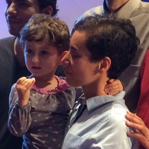 First Woman Fields medallist plus daughter cropped 300x300 - زندگینامه مریم میرزاخانی نابغه ریاضی جهان