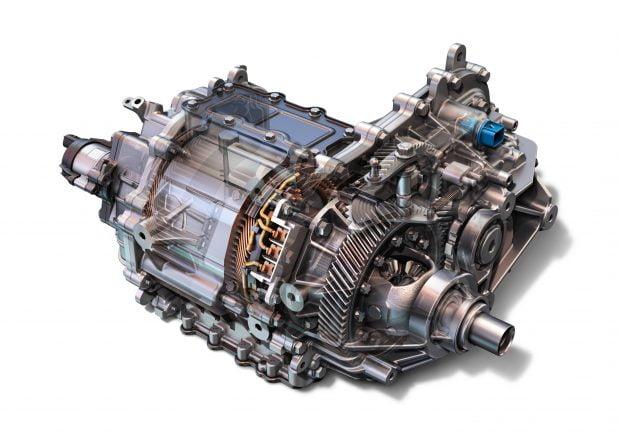 موتور و جعبه دنده خودروی برقی