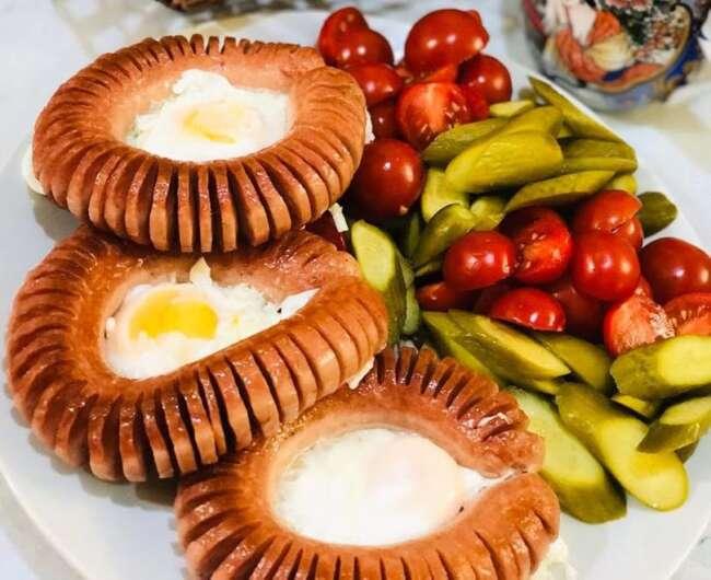 آموزش سوسیس تخم مرغ