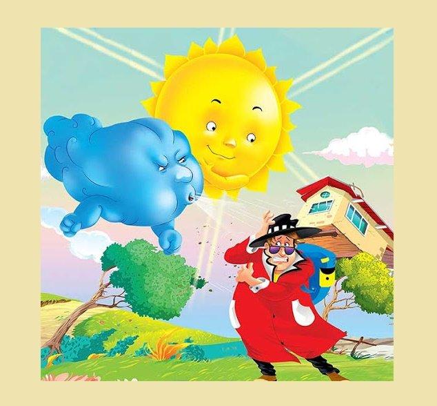 قصه کودکانه باد و خورشید