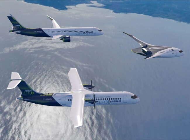 هواپیماهای تجاری ایرباس با تولید دی اکسید کربن صفر - هواپیما بدون دی اکسید کربن