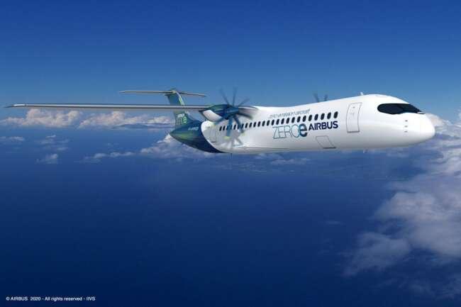 هواپیمای توربو پراپ ایرباس هیدروژنی