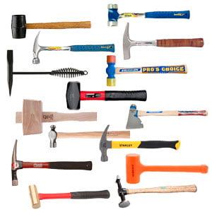 انواع چکش - تجهیزات کارگاه
