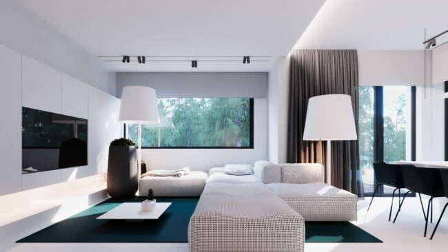سبک مدرن_دکوراسیون داخلی - دکوراسیون داخلی منزل به سبک مدرن