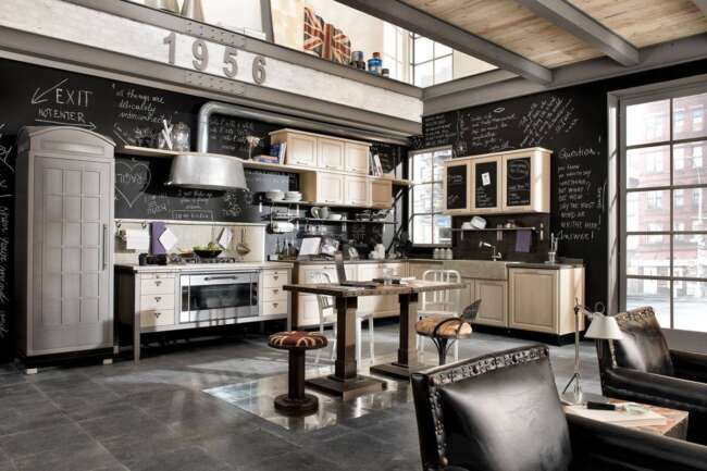 Vintage and Industrial Style Kitchens 14