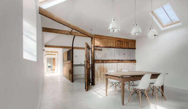 uk stable conversion home with rustic farmhouse details 1 1