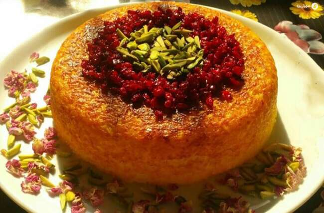 غذاهای شب عید نوروز در شهرهای مختلف ایران ته چین مازندرانی
