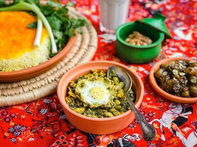 خورش باقلا قاتق - غذای شب عید