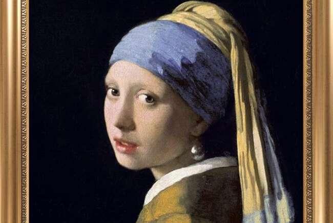 معروف ترین نقاشی های جهان «دختری با گوشواره مروارید» یوهانس ورمیر