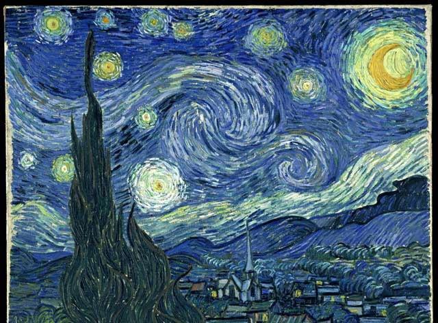 معروف ترین نقاشی های جهان شب پر ستاره ون گوگ