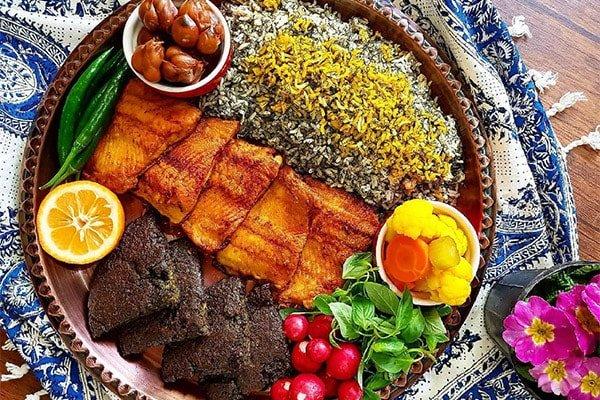 غذاهای شب عید نوروز در شهرهای مختلف ایران - سبزی پلو با ماهی