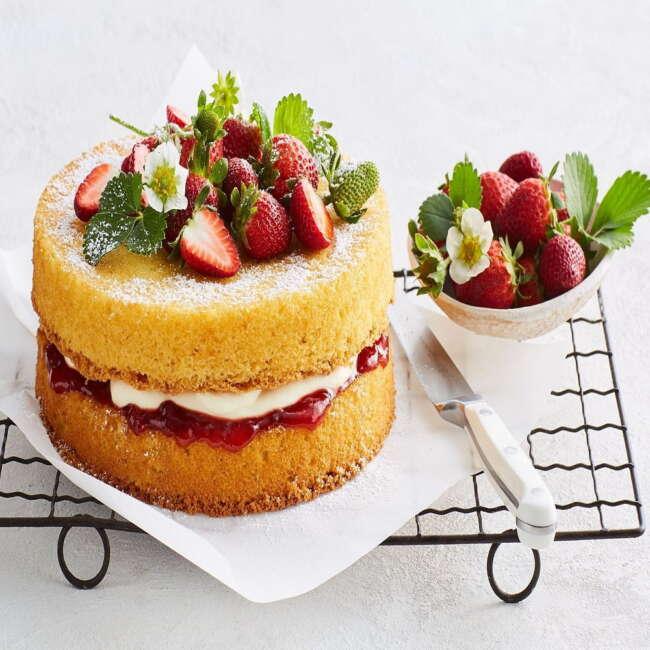 طرز تهیه کیک اسفنجی با خامه