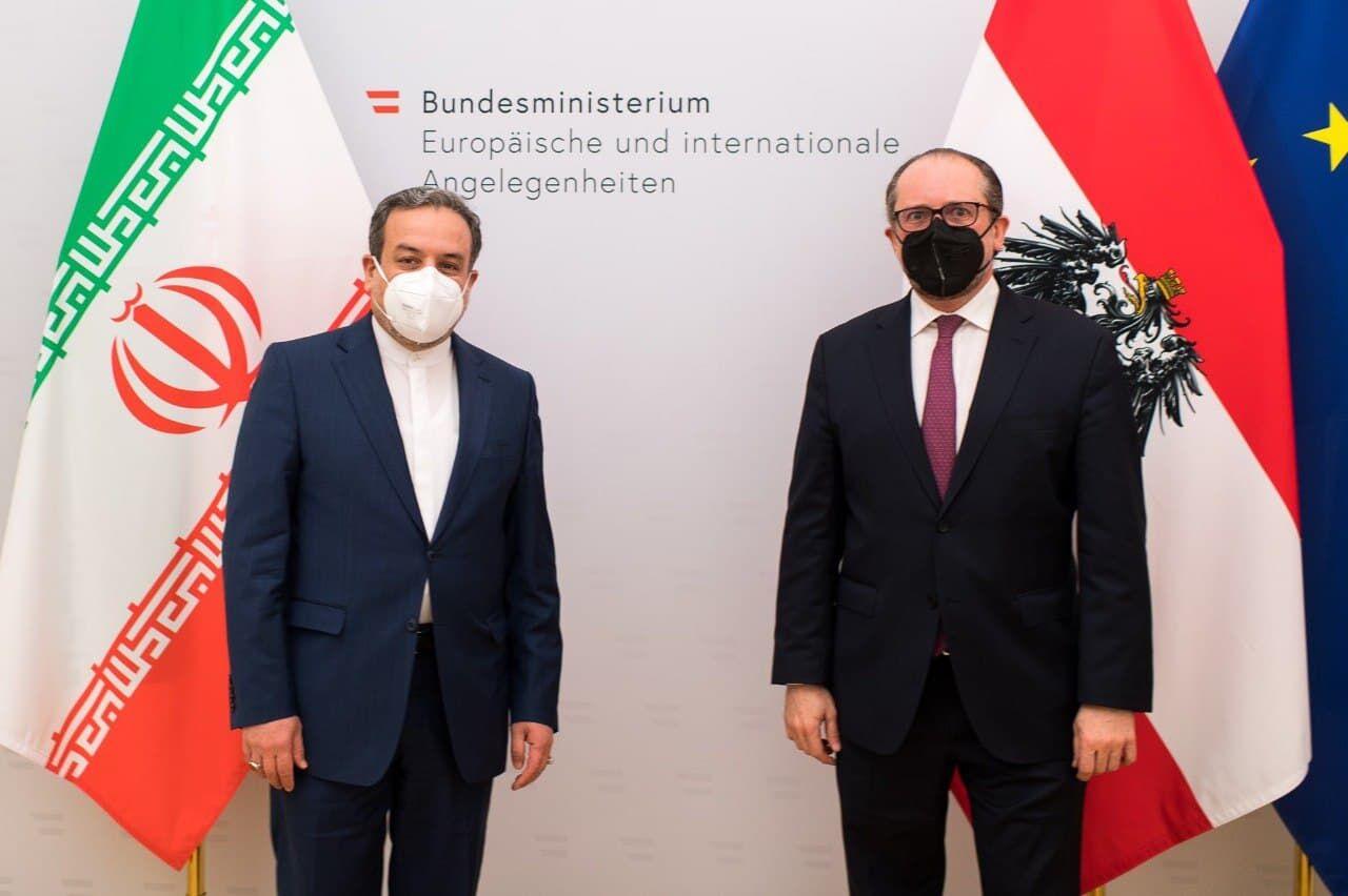 دیدار عراقچی با وزیر امور خارجه اتریش در وین