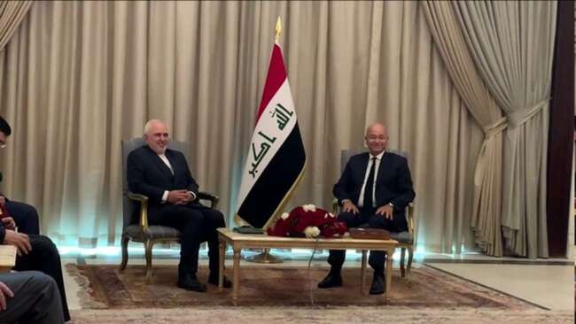 ظریف با رئیس جمهور عراق دیدار کرد