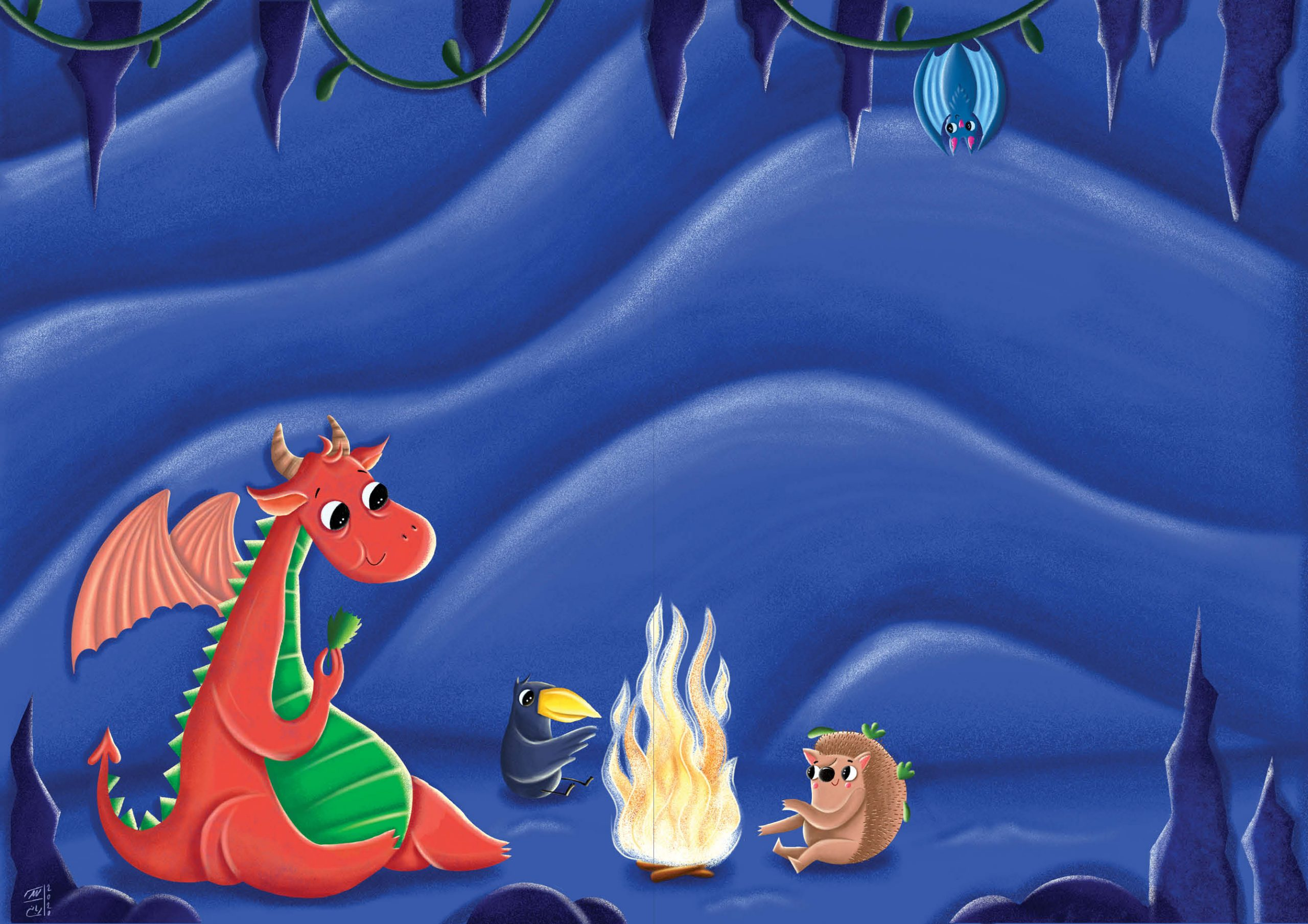 قصه کودکانه اژدها کوچولوی گرسنه