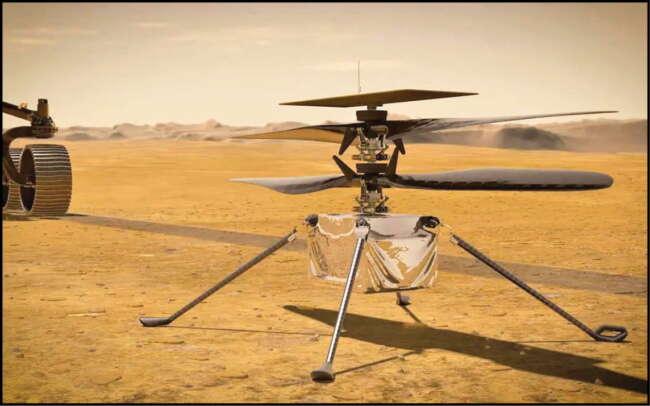 اولین پرواز در سیاره مریخ , هلیکوپتر نبوغ ناسا