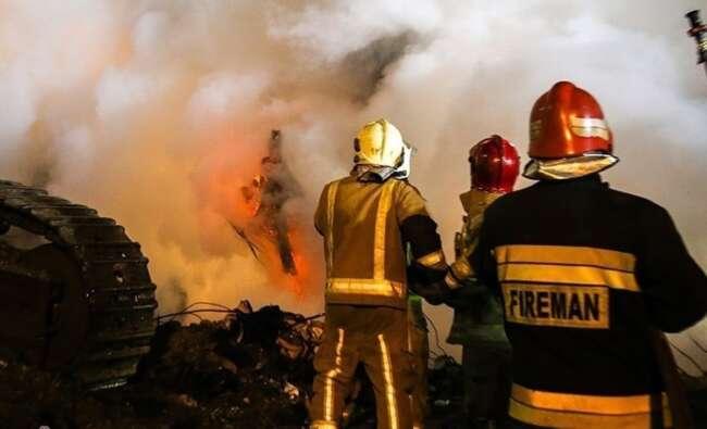 آتش سوزی دانشگاه صنعتی شریف