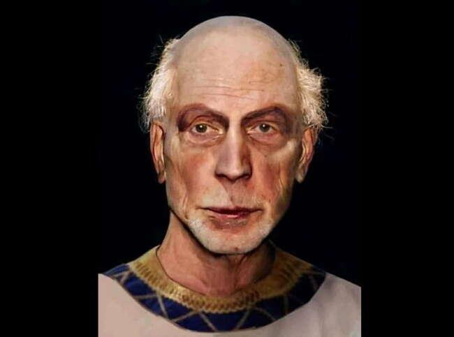 تصویر بازسازی شده از فرعون