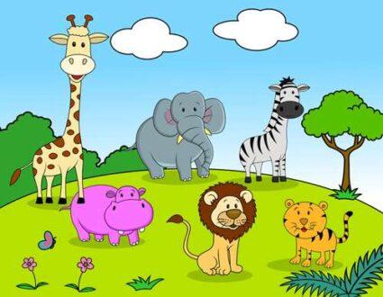 شعر کودکانه حیوونای رنگارنگ