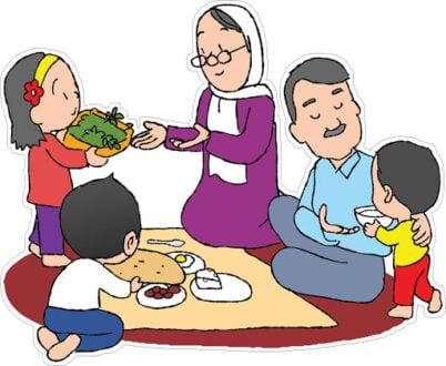 شعر کودکانه یک شام ساده با خانواده