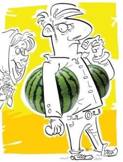 زیر بغل کسی هندوانه دادن