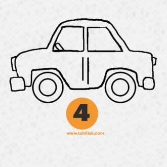 نقاشی ماشین ساده