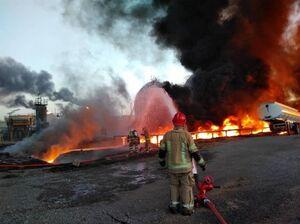 آتش سوزی کارخانه فولاد زرند