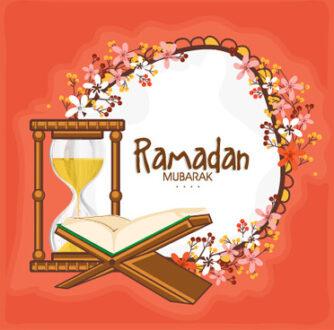 background ramadan mubarak vector design set 584303