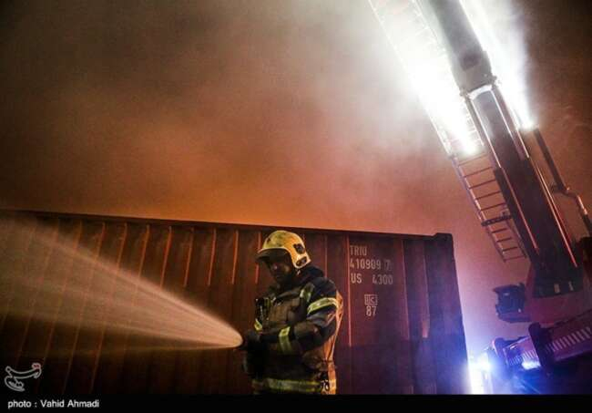 آتش سوزی در بیمارستان ممسنی فارس