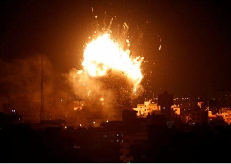 حمله جنگنده های رژیم صهیونیستی به نوار غزه