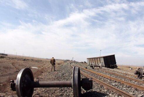 خروج ۶ واگن باری از ریل در راه آهن تهران جنوب در مسیر لرستان