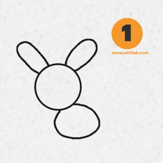 آموزش نقاشی خرگوش برای کودکان