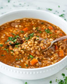 روش پخت سوپ جو