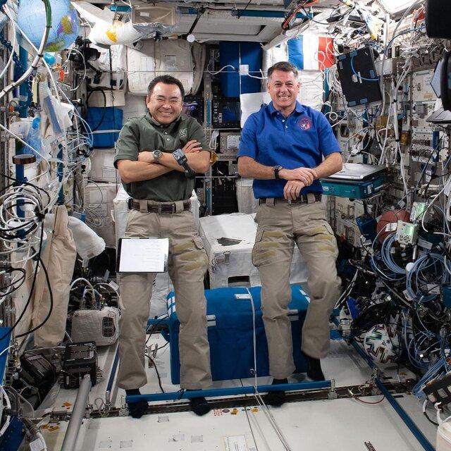 فعالیت روزمره فضانوردان ایستگاه فضایی بین المللی