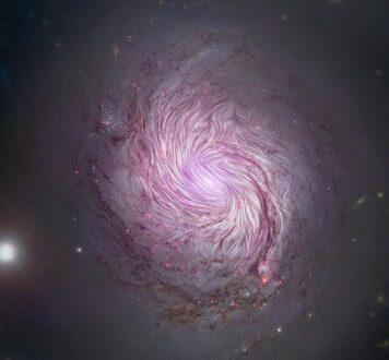 نقش مهم میادین مغناطیسی در شکل گیری کهکشان های مارپیچی