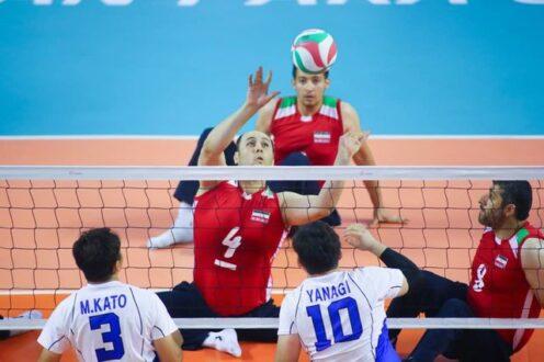 همگروهی والیبال نشسته ایران با برزیل، چین و آلمان