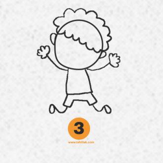 آموزش نقاشی پسر ساده برای کودکان