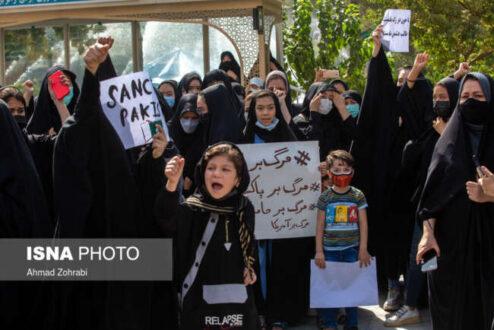 تجمع جمعی از زنان افغانستانی در اعتراض به طالبان