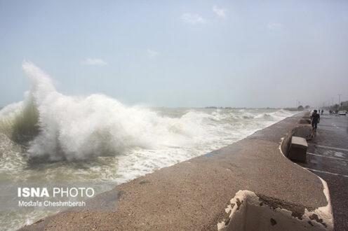خلیج فارس و دریای عمان متلاطم می شود