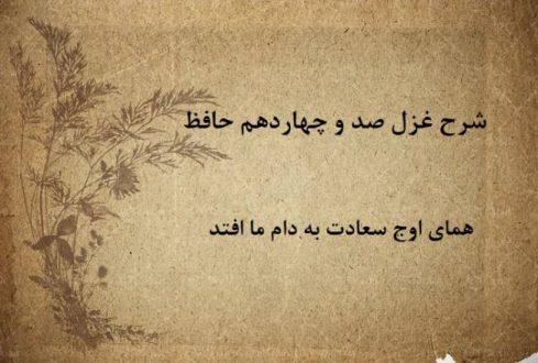 شرح غزل 114 حافظ / همای اوج سعادت به دام ما افتد