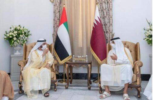 نخستین دیدار امیر قطر و حاکم دبی پس از ۴ سال