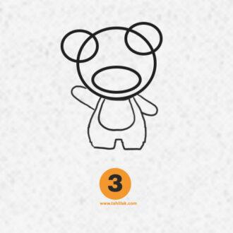 آموزش نقاشی تدی برای کودکان