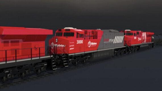 رونمایی از نخستین قطار باری برقی جهان
