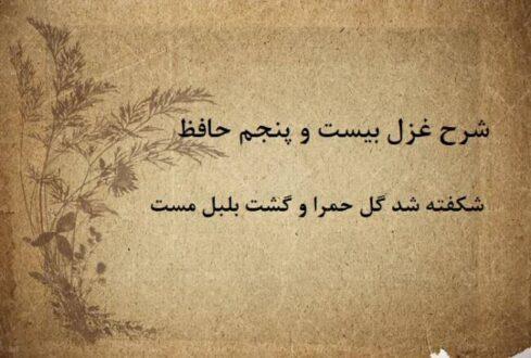 شرح غزل بیست و پنجم حافظ / شکفته شد گل حمرا و گشت بلبل مست
