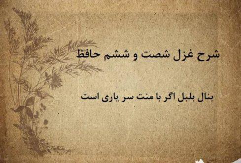 شرح غزل 66 حافظ / بنال بلبل اگر با منت سر یاریست