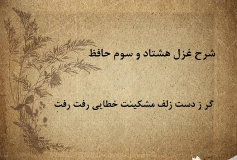 شرح غزل 83 حافظ / گر ز دست زلف مشکینت خطایی رفت رفت