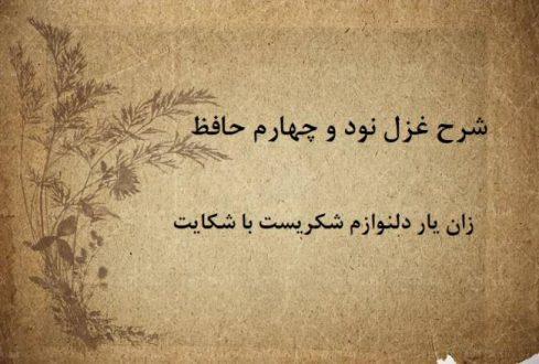 شرح غزل 94 حافظ / زان یار دلنوازم شکریست با شکایت